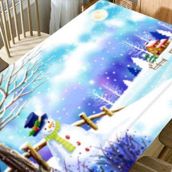 Christmas Snowscape Pattern Waterproof Table Cloth - COLORMIX W54 INCH * L72 INCH