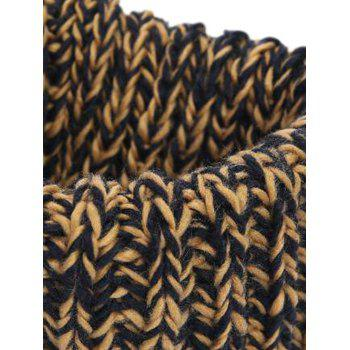 Soft Colormix Pattern Crochet Knitted Infinity Loop Scarf - GINGER