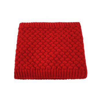 Outdoor Corn Shape Pattern Crochet Knitted Infinity Loop Scarf - RED RED