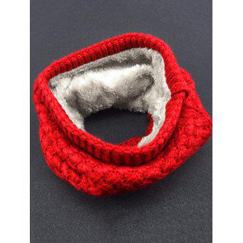 Outdoor Corn Shape Pattern Crochet Knitted Infinity Loop Scarf - RED