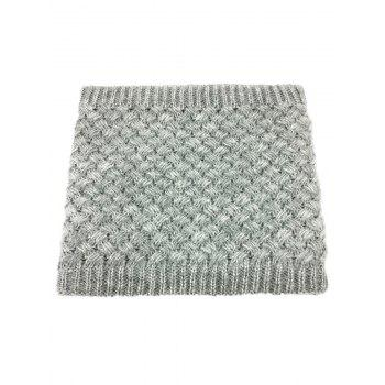 Outdoor Corn Shape Pattern Crochet Knitted Infinity Loop Scarf - GRAY GRAY