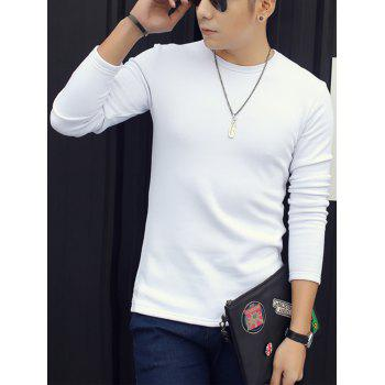 Slim Fit Thermal Long Sleeve T-shirt - WHITE 2XL