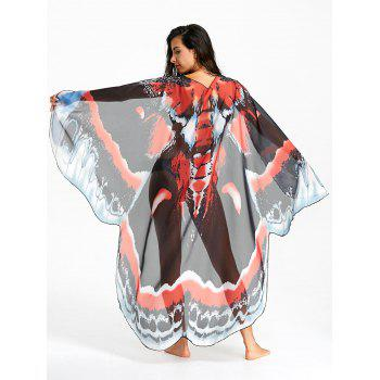 Sheer Butterfly Print Flowy Beach Throw - COLORMIX COLORMIX