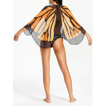 Chiffon Butterfly Wing Beach Cover Up - COLORMIX COLORMIX