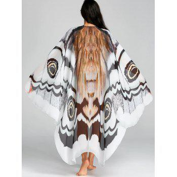 Chiffon Butterfly Printed Flowy Beach Throw - COLORMIX COLORMIX