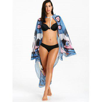 Swing Chiffon Butterfly Printed Beach Throw - COLORMIX COLORMIX