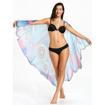 Sunbath Butterfly Sheer Flowy Beach Throw - COLORMIX ONE SIZE