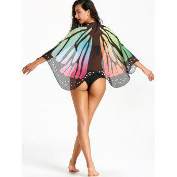 Sheer Butterfly Beach Cover Up - COLORMIX COLORMIX