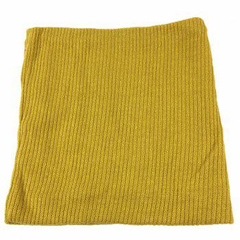 Striped Pattern Thicken Velvet Knitted Infinity Loop Scarf -  GINGER