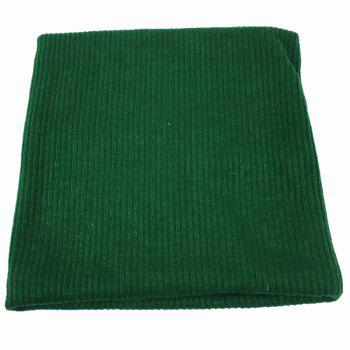 Striped Pattern Thicken Velvet Knitted Infinity Loop Scarf -  BLACKISH GREEN
