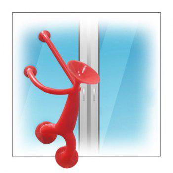 Silicone Sucker Man Puppet Toy Kid Educational Toys - RED H:7.5CM