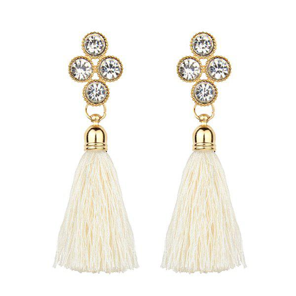 Bohemia Style Faux Crystal Tassel Drop Earrings bohemia style брошь