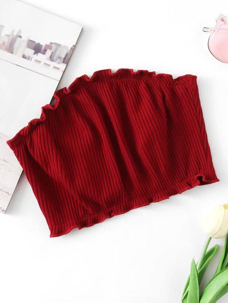 Ribbed Knitted Tube Top 240064403