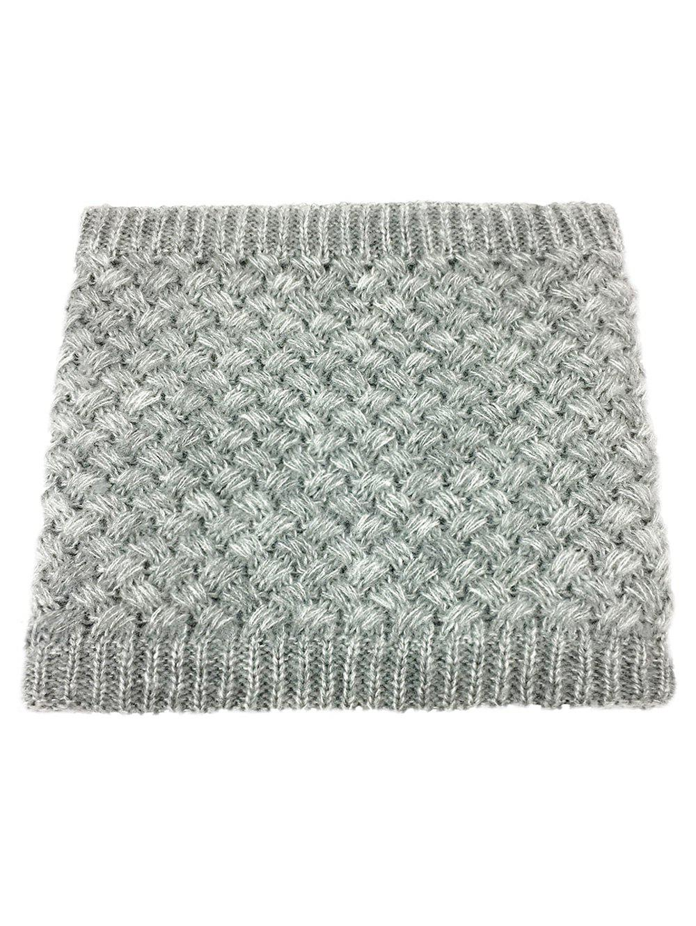 Outdoor Corn Shape Pattern Crochet Knitted Infinity Loop Scarf - GRAY