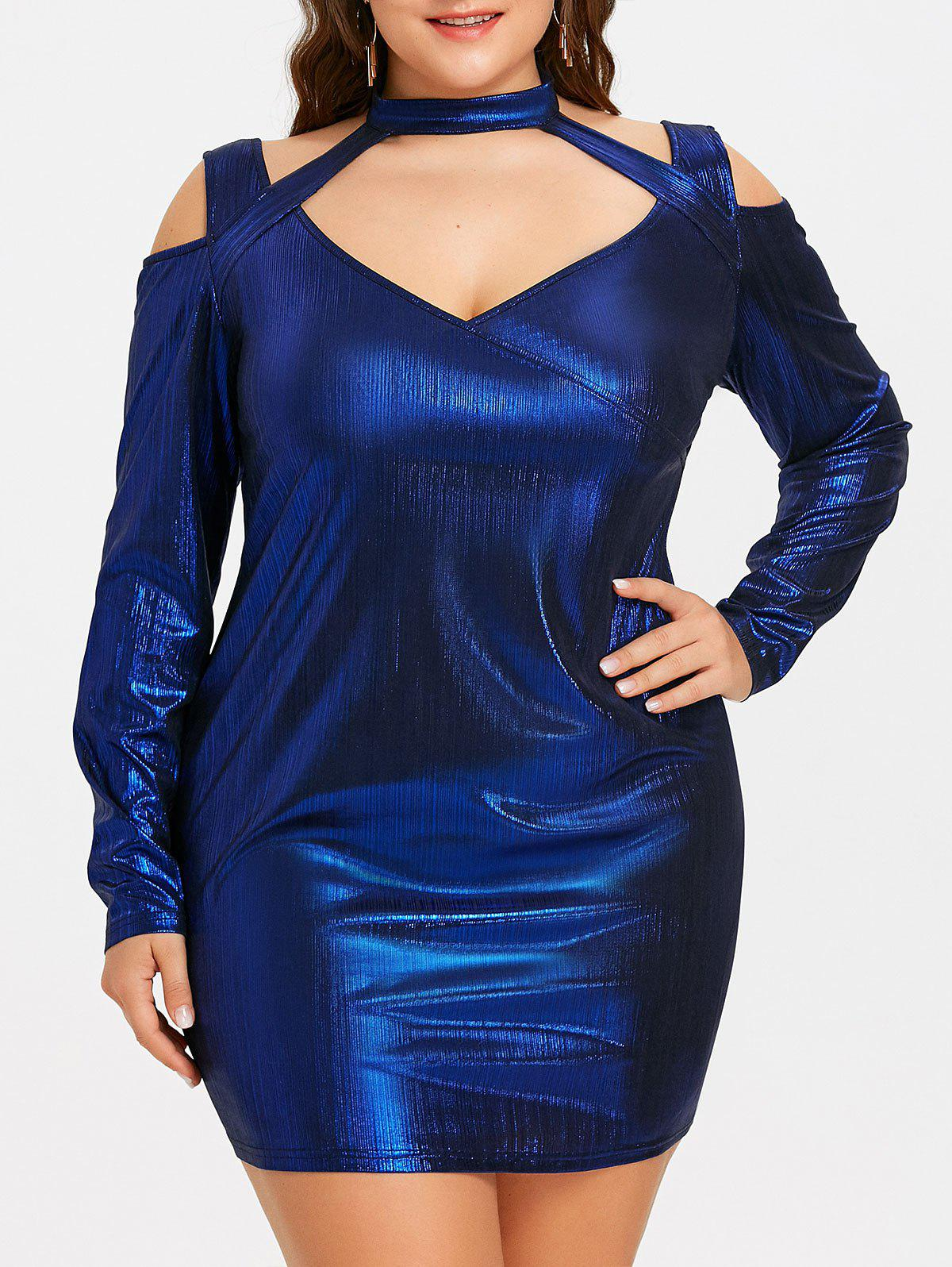цена Halter Cut Out Plus Size Bodycon Dress