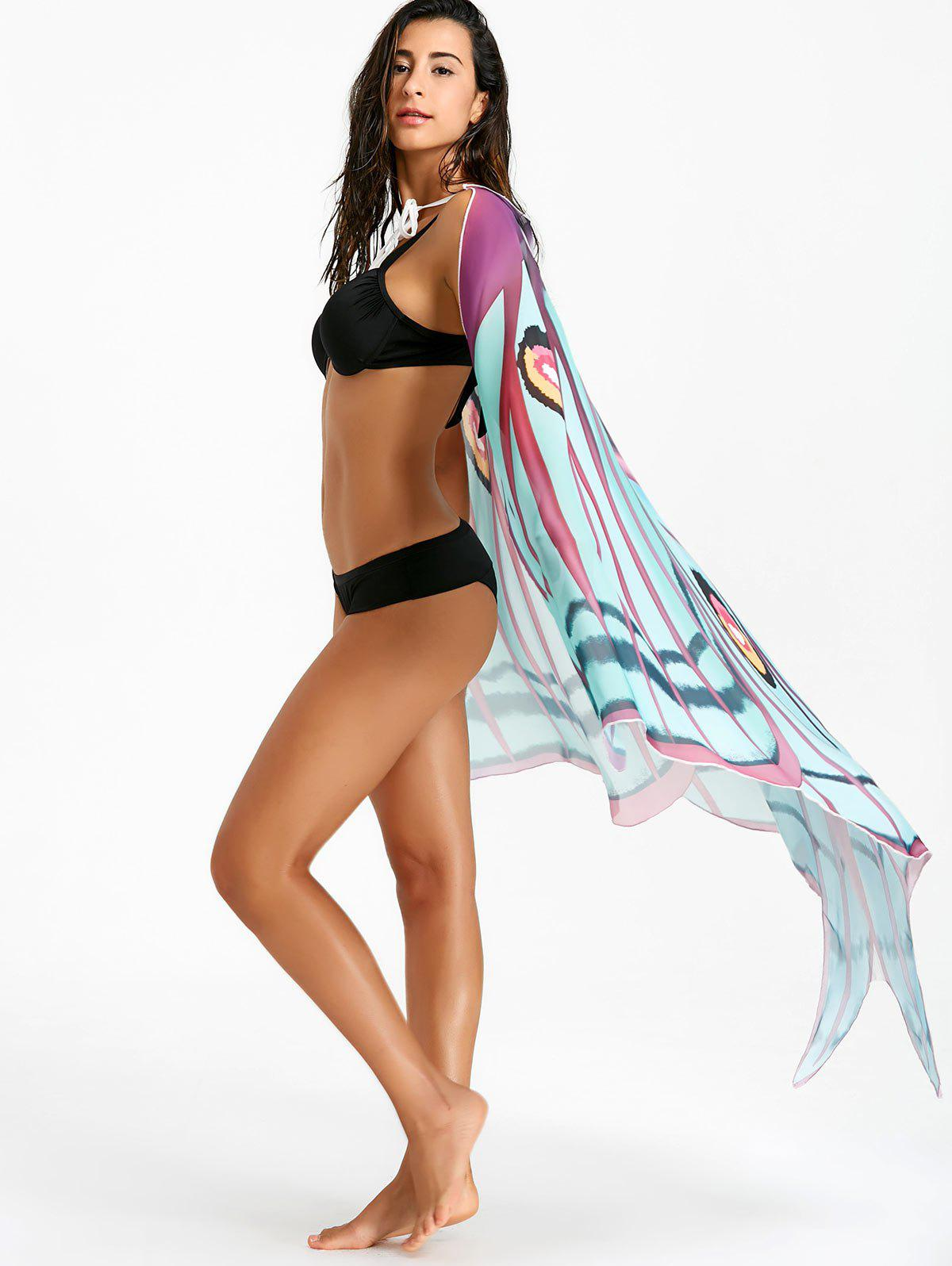 Flowy Butterfly Printed Beach Throw - COLORMIX ONE SIZE
