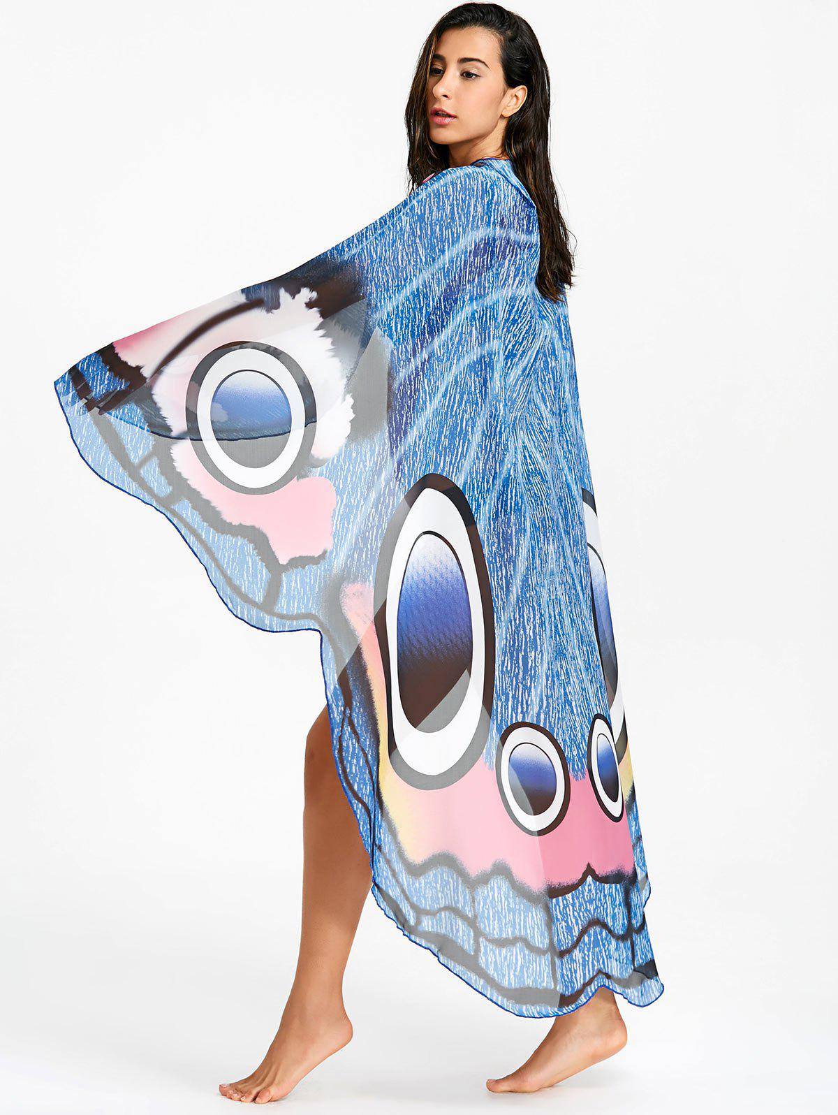 Swing Chiffon Butterfly Printed Beach Throw - COLORMIX ONE SIZE