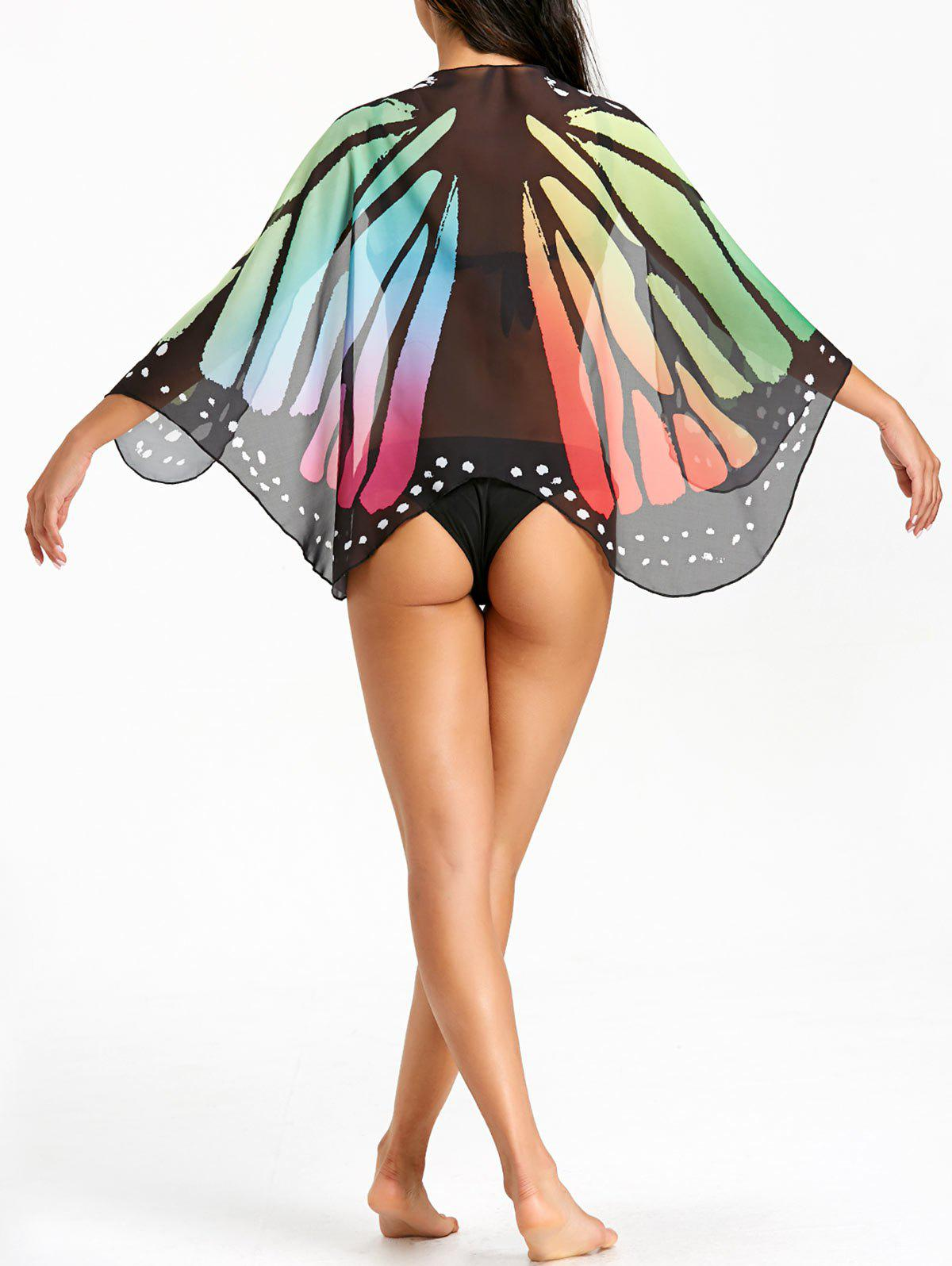 Sheer Butterfly Beach Cover Up - COLORMIX ONE SIZE