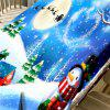 Christmas Snowscape Pattern Waterproof Fabric Table Cloth - COLORMIX W54 INCH * L54 INCH