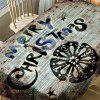 Merry Christmas Letter Print Fabric Waterproof Table Cloth - COLORMIX W54 INCH * L54 INCH