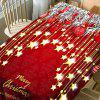 Christmas Ball and Star Pattern Waterproof Table Cloth - RED W60 INCH * L84 INCH