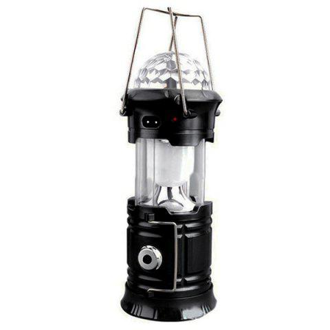 Multifunction Stage Light Flashlight Outdoor Camping Lantern - BLACK US