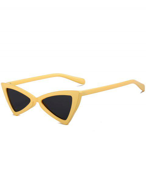 Irregular Butterfly Full Frame Embellished Sunglasses - EARTHY