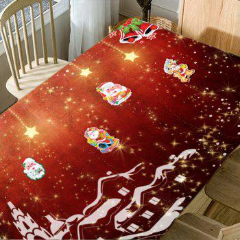 Christmas Town Santa Claus Print Waterproof Table Cloth - COLORMIX W60 INCH * L84 INCH