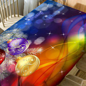 Christmas Hanging Balls Pattern Waterproof Table Cloth - COLORFUL W60 INCH * L84 INCH