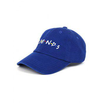 Outdoor FRIENDS Pattern Embroidery Graphic Hat - DEEP BLUE DEEP BLUE