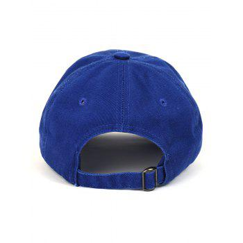 Outdoor FRIENDS Pattern Embroidery Graphic Hat - DEEP BLUE