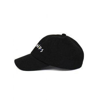 Outdoor FRIENDS Pattern Embroidery Graphic Hat -  BLACK