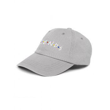 Outdoor FRIENDS Pattern Embroidery Graphic Hat - GRAY GRAY