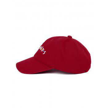 Outdoor FRIENDS Pattern Embroidery Graphic Hat - WINE RED