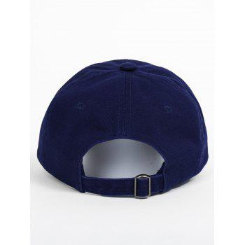 Outdoor UFO Pattern Embroidery Baseball Hat -  DEEP BLUE