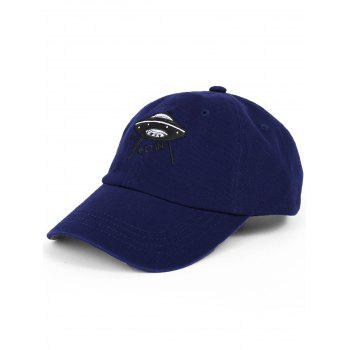 Outdoor UFO Pattern Embroidery Baseball Hat - DEEP BLUE DEEP BLUE