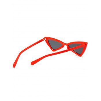 Irregular Butterfly Full Frame Embellished Sunglasses -  RED
