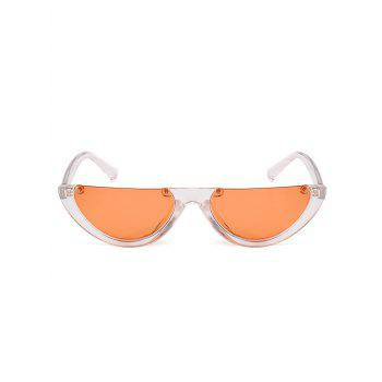 Vintage Semi-Rimless Decorated Cat Eye Sunglasses - JACINTH