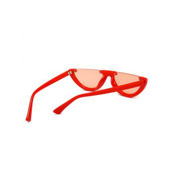Vintage Semi-Rimless Decorated Cat Eye Sunglasses - WATERMELON RED