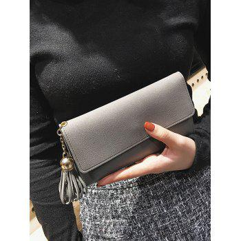 Gland Pendentif Long Frosted Wallet - gris