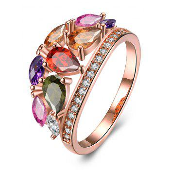 Imitation Diamond Inlay Decorative Ring - MULTI multicolor