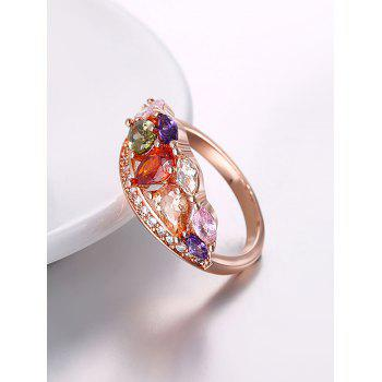 Imitation Diamond Inlay Decorative Ring - multicolor multicolor