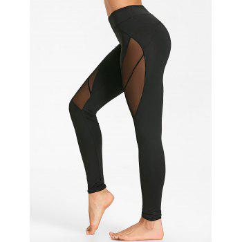 Voir Collants de yoga en maille - Noir XL