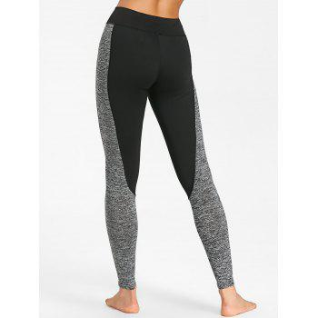 Sports High Rise Two Tone  Leggings - GRAY S