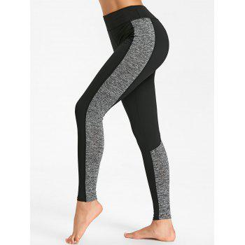 Sports High Rise Two Tone  Leggings - GRAY GRAY