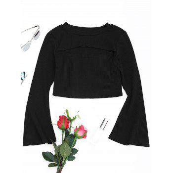 Cut Out Front Flare Sleeve Knitwear