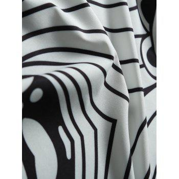 Monochrome Ethnic Floral Beach Throw - WHITE/BLACK ONE SIZE(FIT SIZE XS TO M)