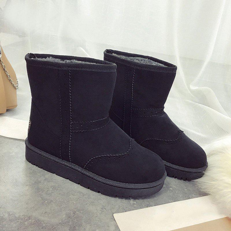 Suede Ankle Snow Boots - Black 37 outlet eastbay OT4QIF