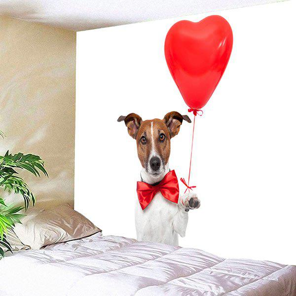 Gentleman Dog Heart Balloon Printed Wall Hanging Tapestry heart of a dog