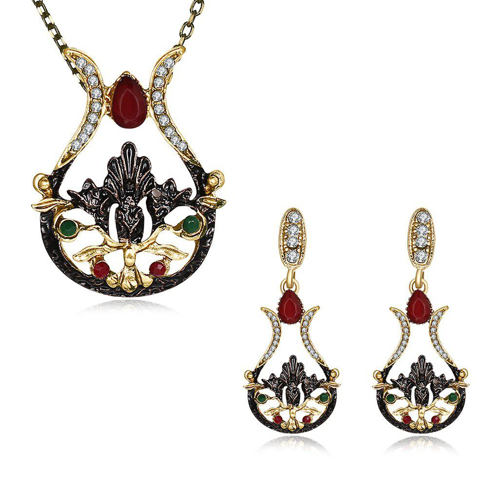 Bohemia Embellished Earrings and Necklace Set starfish necklace and earrings set